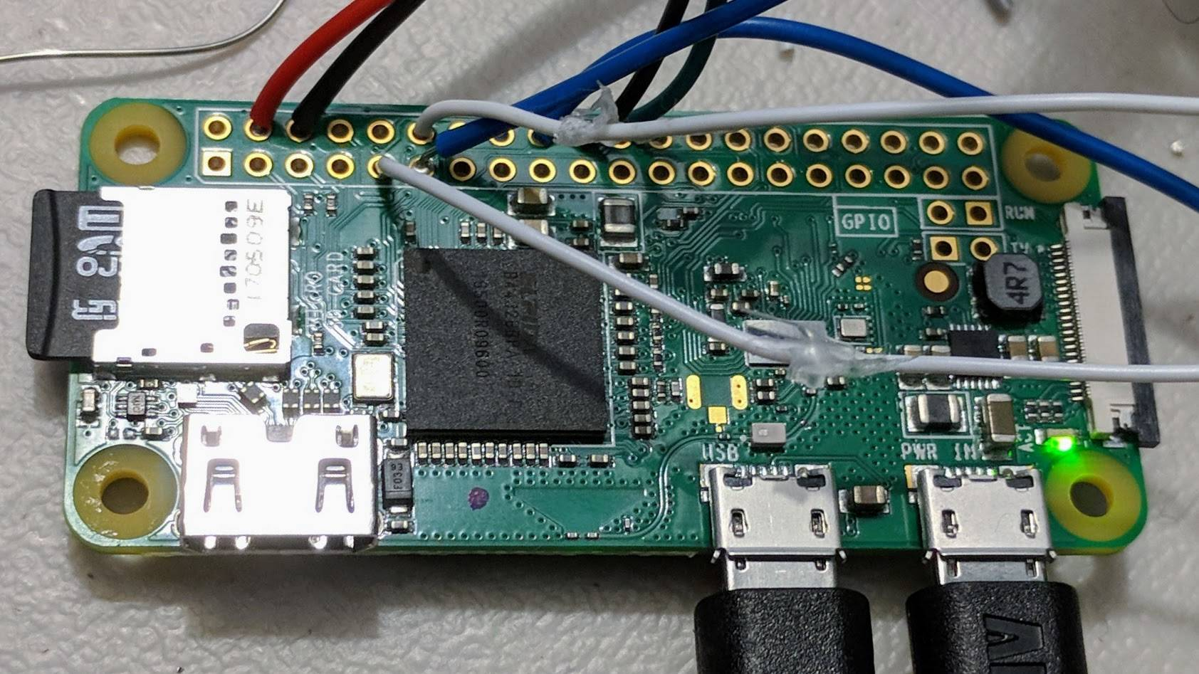 Raspberry Pi with connections to tree and custom circuits